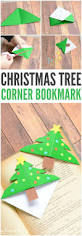 christmas tree corner bookmarks origami for kids corner