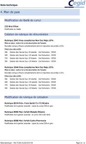 cegid si e social cegid business paie mise à jour plan de paie 01 03 2014 service d