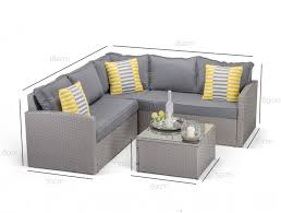 Grey Rattan Outdoor Furniture by Dimensions Of Calabria Corner Sofa In Grey Rattan For The Home