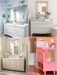 recycle old stuff to make small diy bathroom vanities that are big
