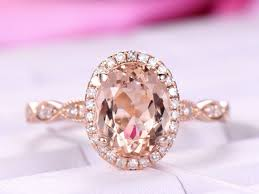 big jewelry rings images 9x7mm big morganite engagement ring diamond in 14k rose gold halo jpg