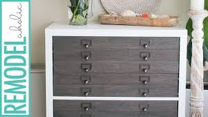 flat file cabinet ikea ikea hack kallax shelf to flat file cabinet drawers youtube