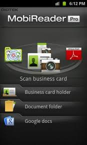 Scan Business Cards Android Best Business Card Reader App For Android Mobireader Pro Means