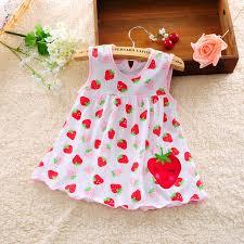 2016 new baby dress cotton dot striped slip dress pear
