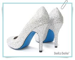 wedding shoes bottoms encrusted silver white bridal wedding pumps shoes with