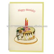 birthday cake quilling card buy quilling handmade card 3d card