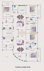 Typical Floor Plan Of A House by Independent Floor Design Apnaghar House Design
