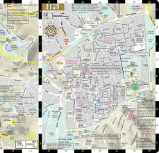 Map Of Albuquerque New Mexico by Streetwise Jerusalem Map Laminated City Center Street Map Of