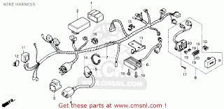 honda nx250 1988 j usa california wire harness schematic