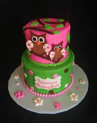 baby shower owl cakes plain design owl themed baby shower cakes sweet girl cake ideas