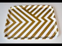 home decor diy gold and white chevron tray natalie u0027s creations
