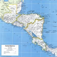 Large Scale Map Map Of Central America