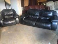 Black Leather Sofa Set Black Leather Sofa In Manchester Sofas Armchairs Couches