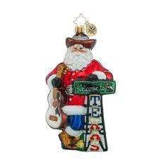 christopher radko ornaments radko howdy ya ll santa
