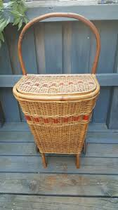 34 best wicker basket on wheels images on pinterest wicker