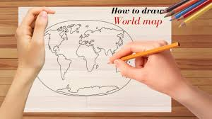 how to draw world map youtube