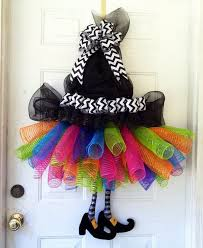 fun and creative diy halloween witch wreath ideas witch tutu