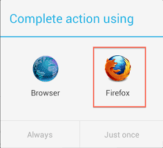 set firefox as your default android browser the den - Android Default Browser