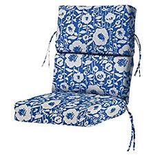 High Back Patio Chair Cushion Amazon Com Bullnose High Back Outdoor Chair Cushion 4