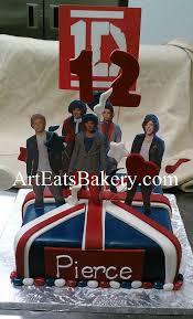 direction custom unique british flag birthday cake 12