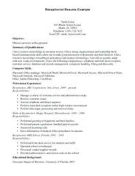 resume cover letter samples for medical receptionist objective me