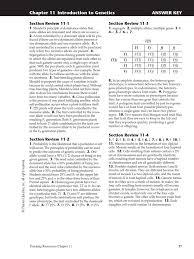 chapter 11 answer key meiosis dominance genetics