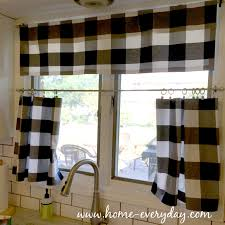 Kitchen Tier Curtains by Furniture Kitchen Red Check Tier Valance Collection Also And