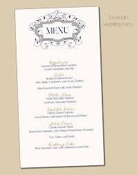 diy wedding menu cards items similar to navy gold swirl border wedding menu card diy