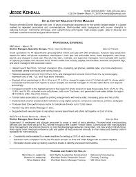 retail sales manager resume samples sample resume of a manager