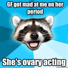 Mad Girlfriend Meme - gf got mad at me on her period she s ovary acting lame pun coon