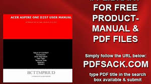 acer aspire one d257 user manual video dailymotion