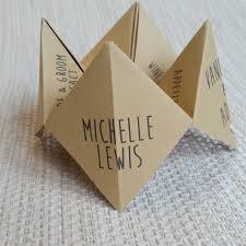 wedding place cards name cards menu origami creative unique