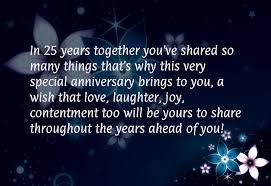 25 year wedding anniversary wedding anniversary quotes years employment quotesgram diy