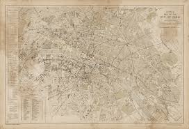 Vintage Map U0026 Son Vintage Paris Map Water Stained Majesty Maps And Prints