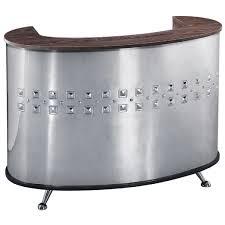 Metal Reception Desk Reception Desk Wood And Metal With Mirror Effect Cromozona
