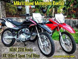honda xr new 2016 honda xr 150 trail bikes for rent in bohol bohol
