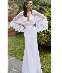 spring 2017 bohemian wedding dresses lace cape small a line sweep