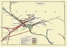 Leeds England Map by David Heys Steam Diesel Photo Collection 49 Aire Valley Line 1