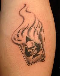 flames onthesideofmyface playing cards tattoo designs photos