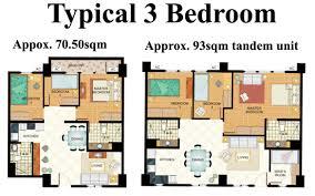 3 bedroom condo condo 3 bedroom tivoli garden residences condominium for sale in the