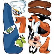 roommates 5 in 19 in mickey and friends goofy 13 piece peel and mickey and friends goofy 13 piece peel and stick giant wall decal rmk1510gm the home depot
