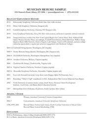 musician resume example music resume sample resume genius