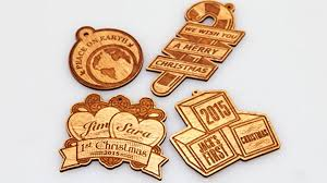 laser cut and engraved ornaments
