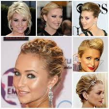 elegant updos short hair hair style and color for woman