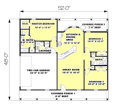 Ranch Style House Plans With Porch Ranch Style House Plan 3 Beds 2 00 Baths 1500 Sq Ft Plan 44 134