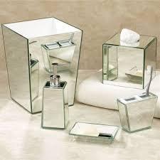 mirrored bathroom accessories crystal mirror bath accessories