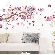 bohemia flowers bird removable wall stickers art decals mural 1 sheet of sticker