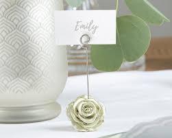 light gold place card holder set of 6