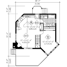 Floor Plans For Small Cabins by Contemporary Style House Plan 1 Beds 1 Baths 696 Sq Ft Plan 25