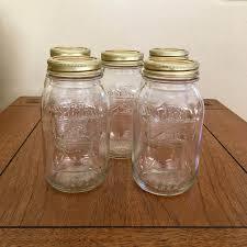 bicentennial 1776 1976 liberty bell mason jars lot of 6
